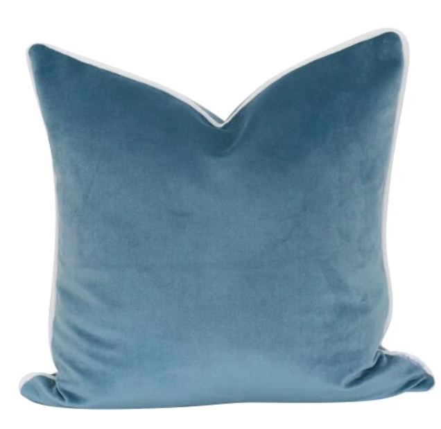 Velvet Wedgewood Cushion