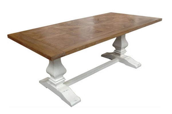 Parquetry Dining Table 200cm Natural Base