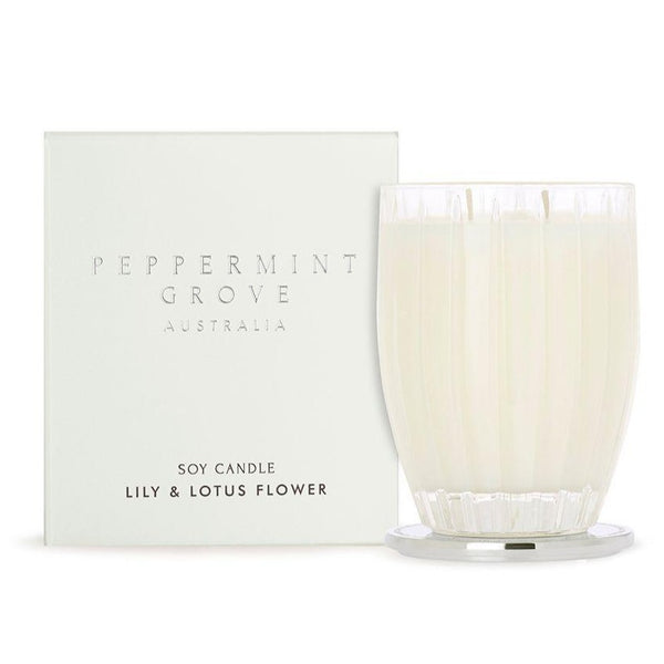 Peppermint Grove Lily & Lotus Flower Candle 350g