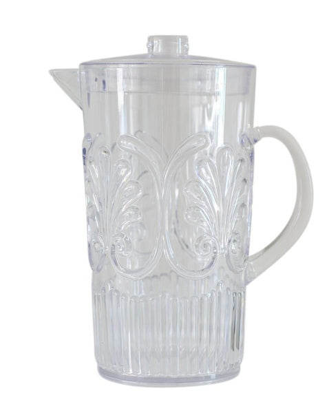 Acrylic Scollop Design Pitcher