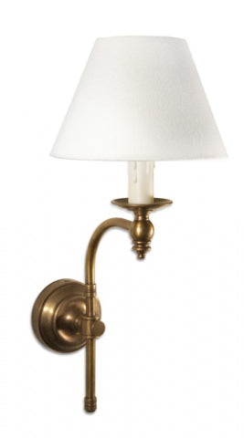 Soho Curved Sconce Antique Brass