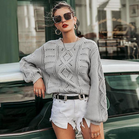 Allie Knit Cutout Sweater