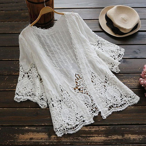 Chassidy Embroidered  Lace Top