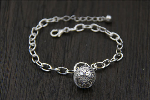 Felina Sterling Silver Flower Ball Bracelet