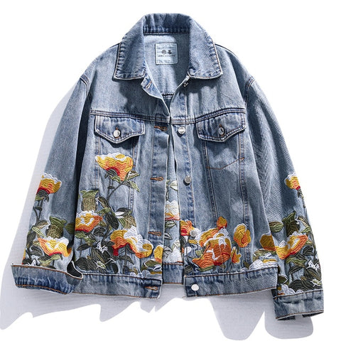 Ophelia Floral Embroidered Denim Jacket