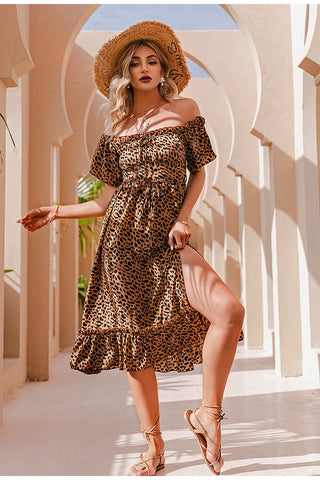 Isabel Leopard Print Dress