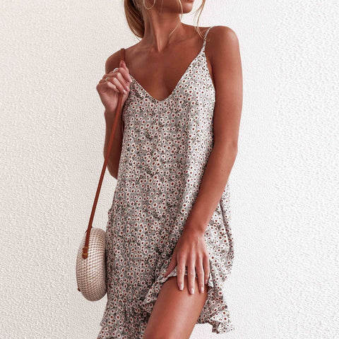 Sage Spaghetti Strap Dress