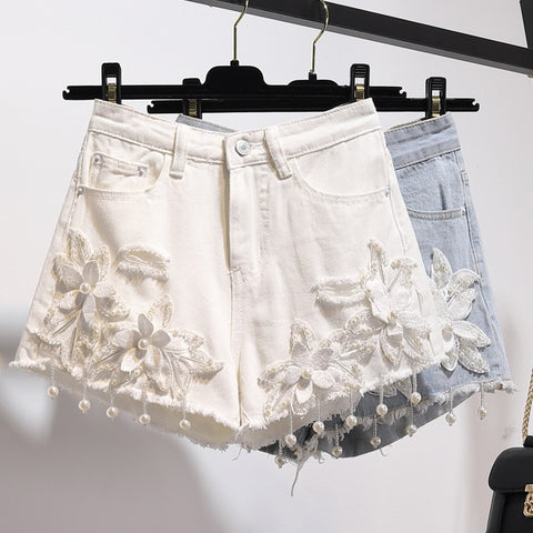 Tory Floral Denim Short