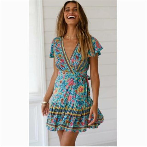 Tyrah Floral Wrap Dress