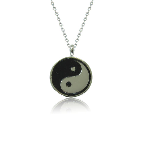 TAIJI DISC STERLING SILVER NECKLACE
