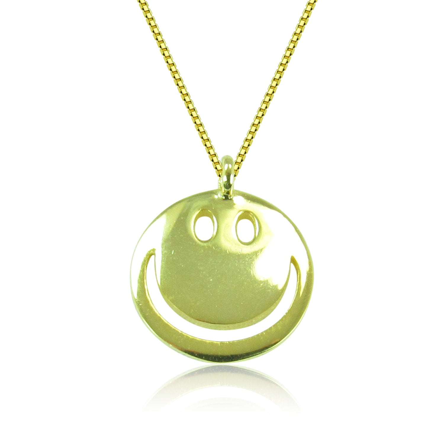 HAPPY FACE STERLING SILVER NECKLACE