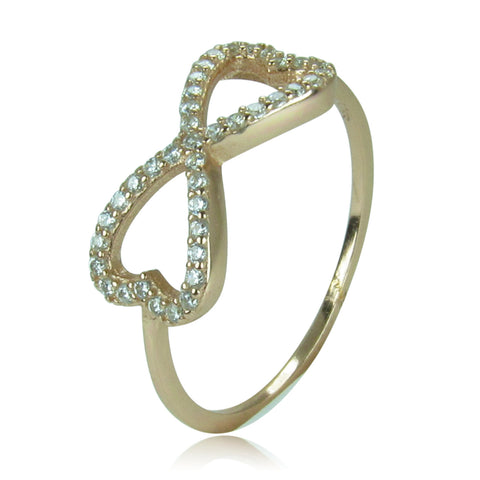 HEART TO HEART INFINITY PAVE CZ STERLING SILVER RING