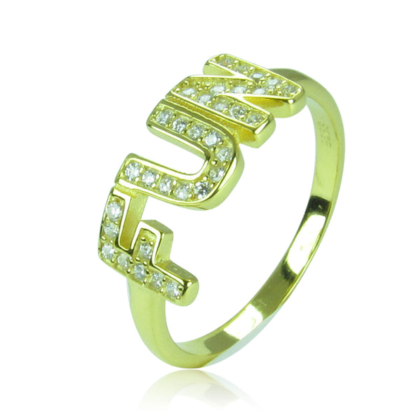 FUN PAVE CZ STERLING SILVER RING