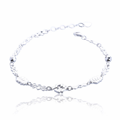 LEAVES STERLING SILVER BRACELET