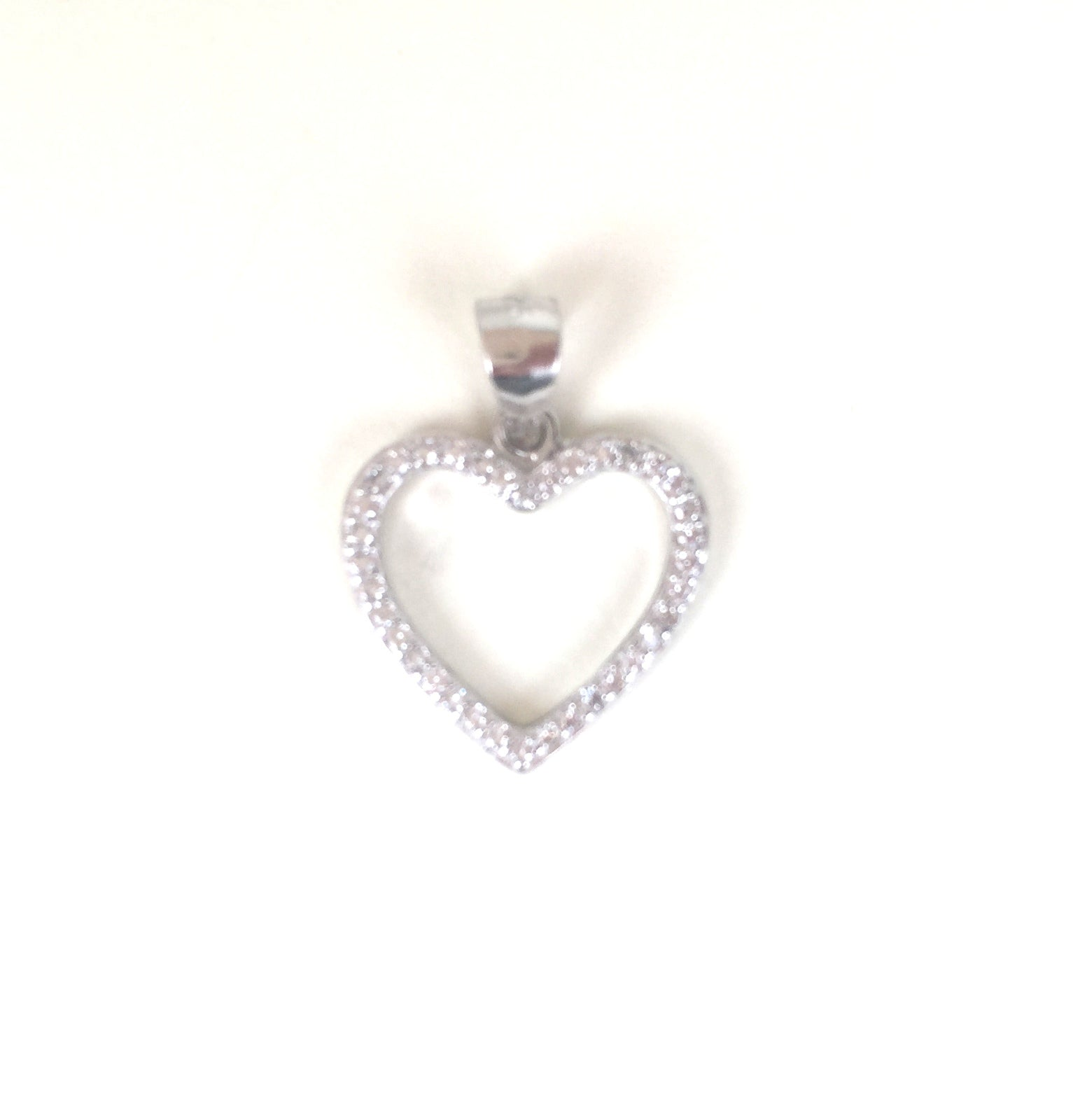 HEART PAVE CZ STERLING SILVER PENDANT