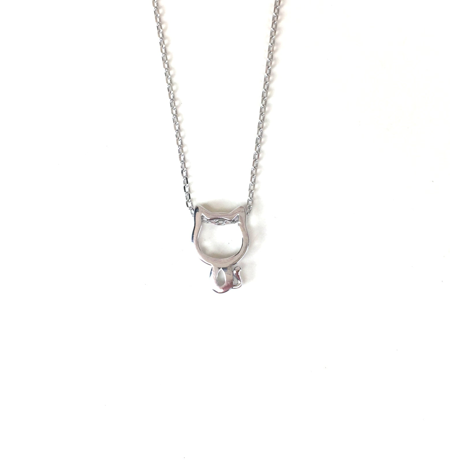 LITTLE CAT STERLING SILVER NECKLACE