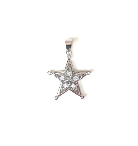 SPARKLING STAR STERLING SILVER PENDANT