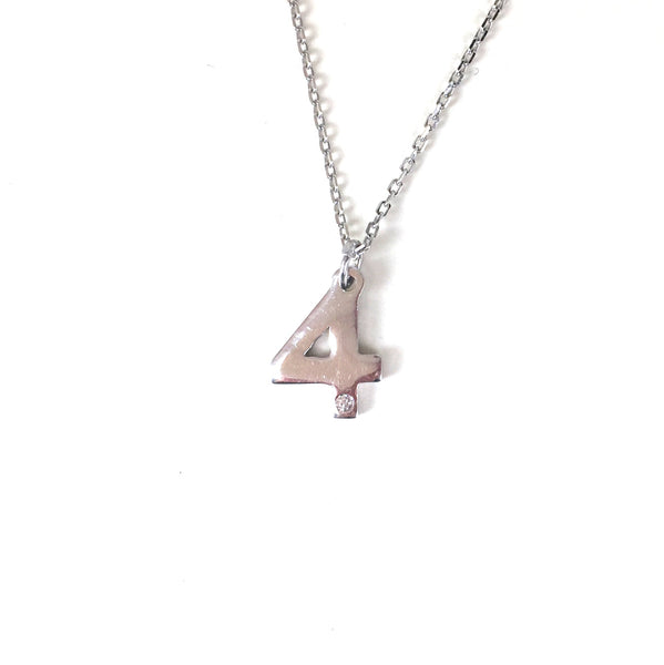 NUMBERS STERLING SILVER NECKLACE