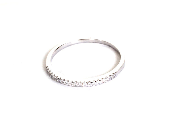PAVE BAND STERLING SILVER RING