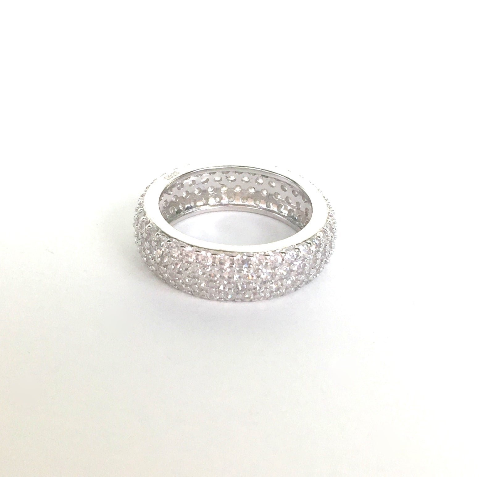 SPARKLING BAND STERLING SILVER RING
