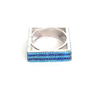 TURQUOISE SQUARE STERLING SILVER RING