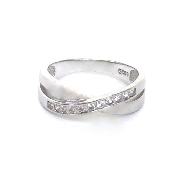 X PAVE CZ STERLING SILVER RING