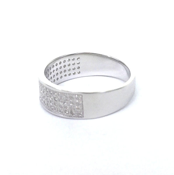 SPARKLING BAND 6MM PAVE CZ STERLING SILVER RING
