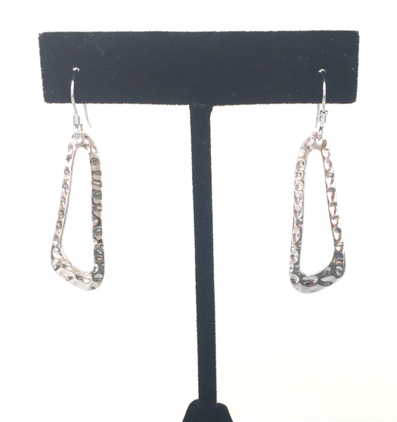 SIMPLE CRAFTED DANGLING STERLING SILVER EARRINGS