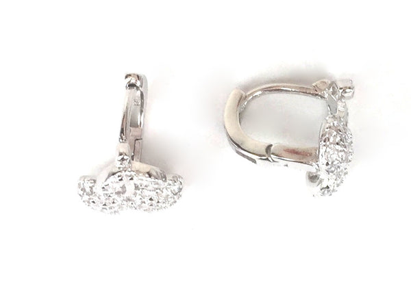 CHEERY PAVE CZ STERLING SILVER EARRINGS
