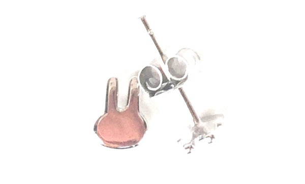 PETITE RABBIT STUD STERLING SILVER EARRINGS