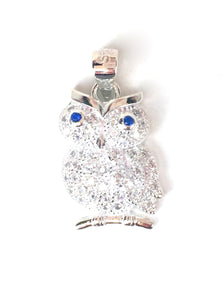 OWL PAVE CZ STERLING SILVER PENDANT