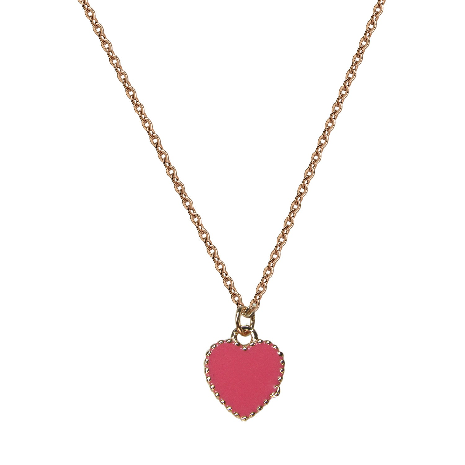 PINK HEART STERLING SILVER NECKLACE