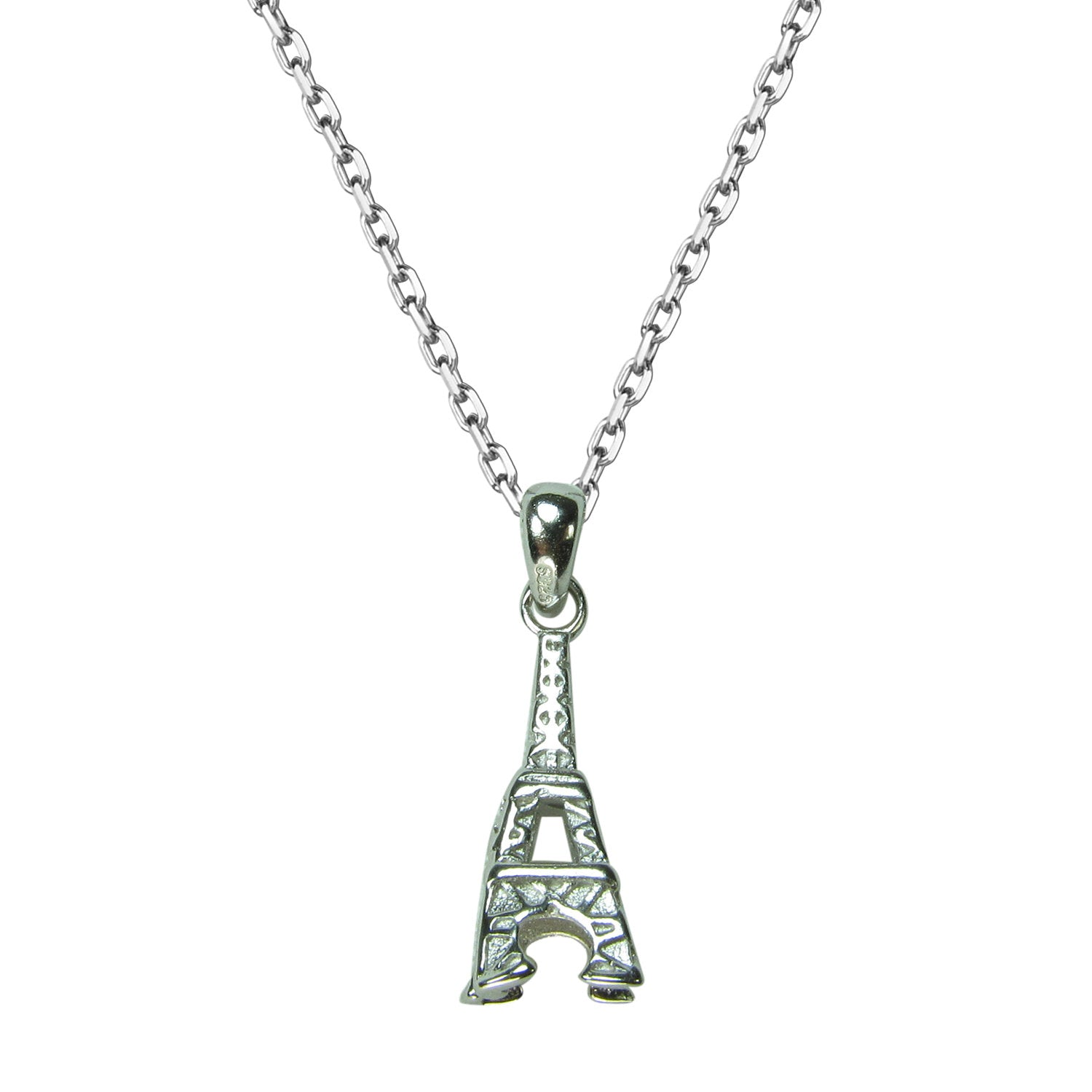 EIFFEL TOWER STERLING SILVER NECKLACE