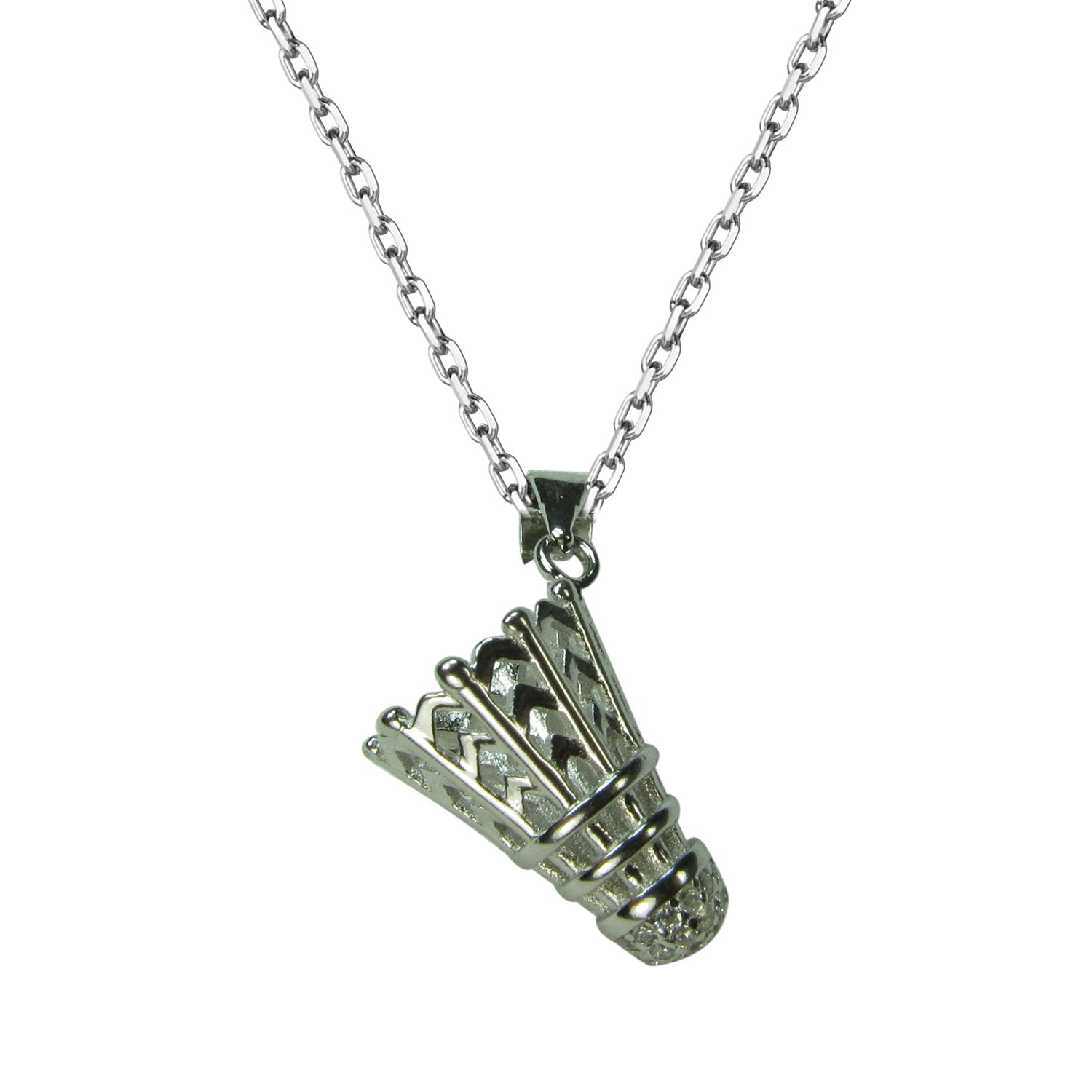 BADMINTON PAVE CZ STERLING SILVER NECKLACE