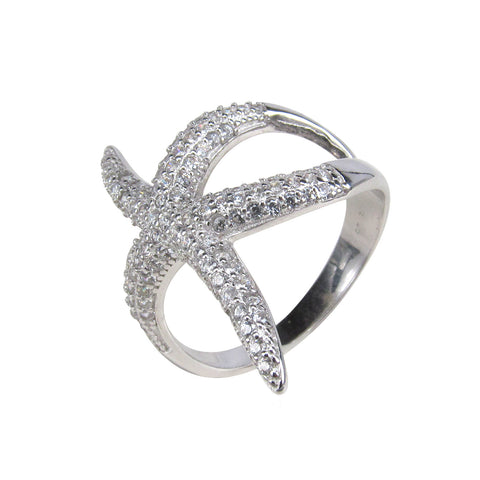 STARFISH STERLING SILVER RING