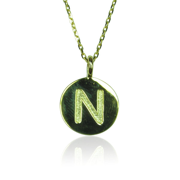 INITIAL PENDANT STERLING SILVER NECKLACE