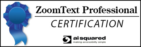 ZoomText Professional Certification