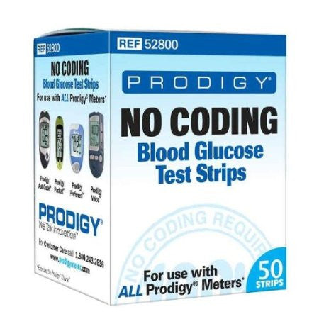 Prodigy Diabetes Autocode Blood Glucose Test Strips (Box of 50)