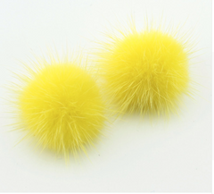 Pam's Mink Pom Pom Earrings