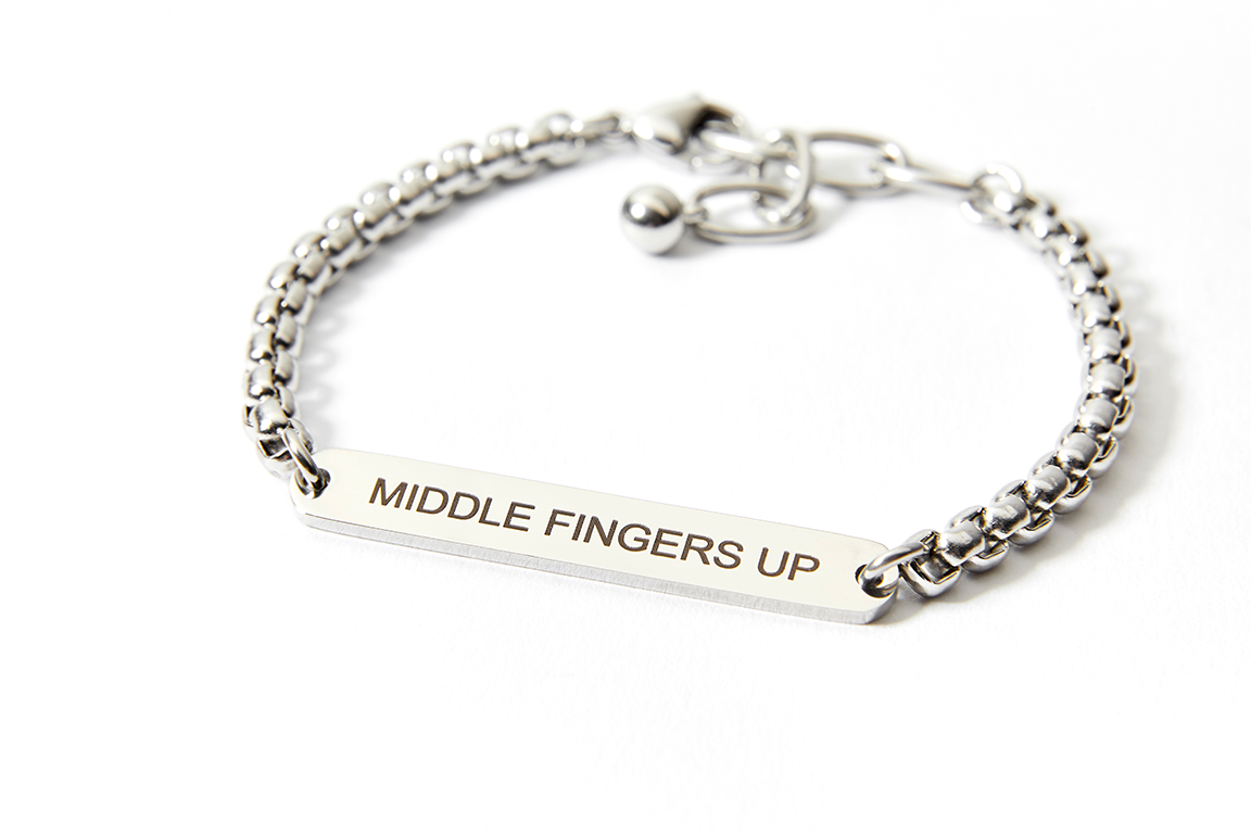 """Middle Fingers Up"" Bracelet"