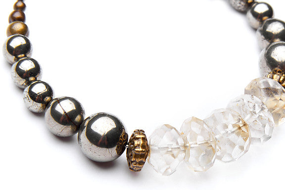 Citrine and Pyrite Stacker