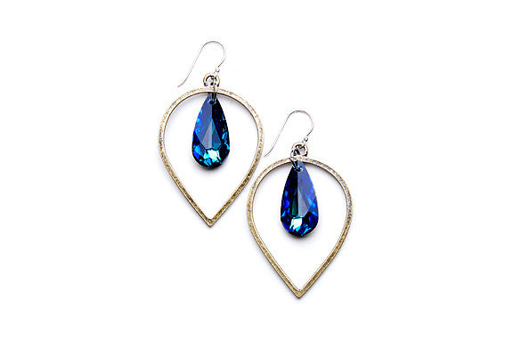 Brass Teardrops (Bermuda Blue)