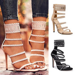 Women's High Heel Stiletto Sandals Casual Fashion Pearl Decoration
