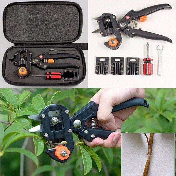 Garden Fruit Tree Pro Pruning Shears Scissor Grafting Cutting Tools Suit