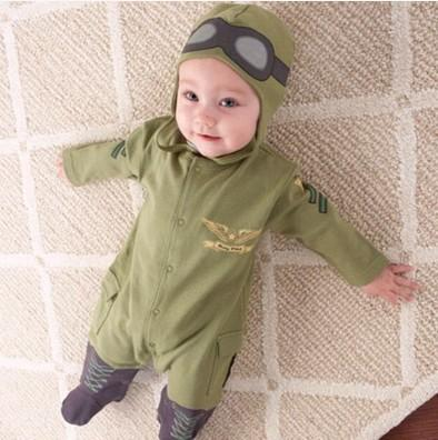 2-piece Pilot Bodysuit with Headband - childbling
