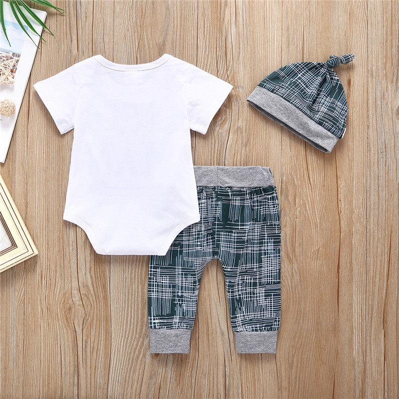 3-piece Little Man Letter Bodysuit, Pants and Hat Set - childbling