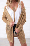 Bohemian Women's Oversize Open Hooded Long Crochet Cardigan Sweater - zdbwani