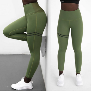 New High Waist Band Tummy Support Yoga Leggings