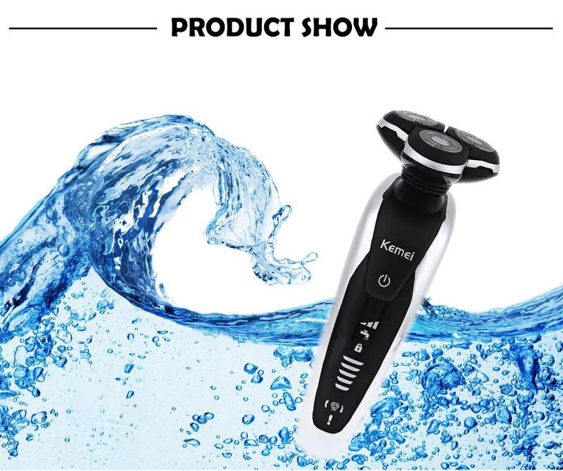 3D BEST ELECTRIC RAZOR FACE BEARD SHAVER FOR MEN