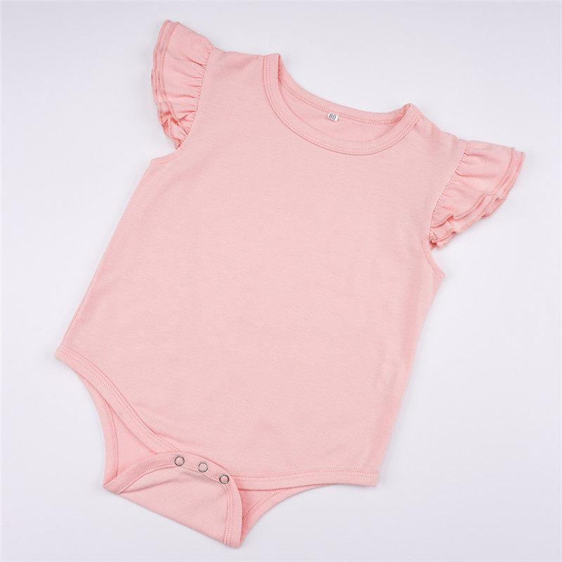 3-piece Pretty Solid Ruffled Bodysuit, Pants and Headband Set - childbling
